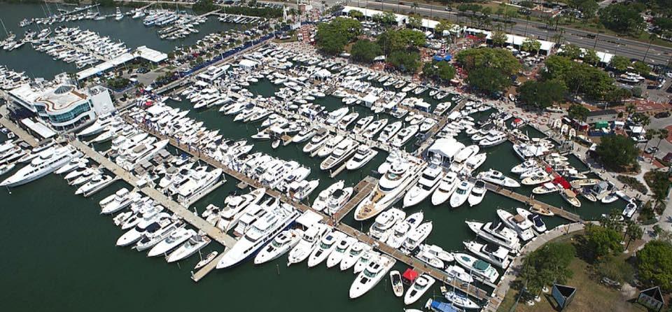 Overhead view of Erickson Marine Marina. Sarasota, Florida